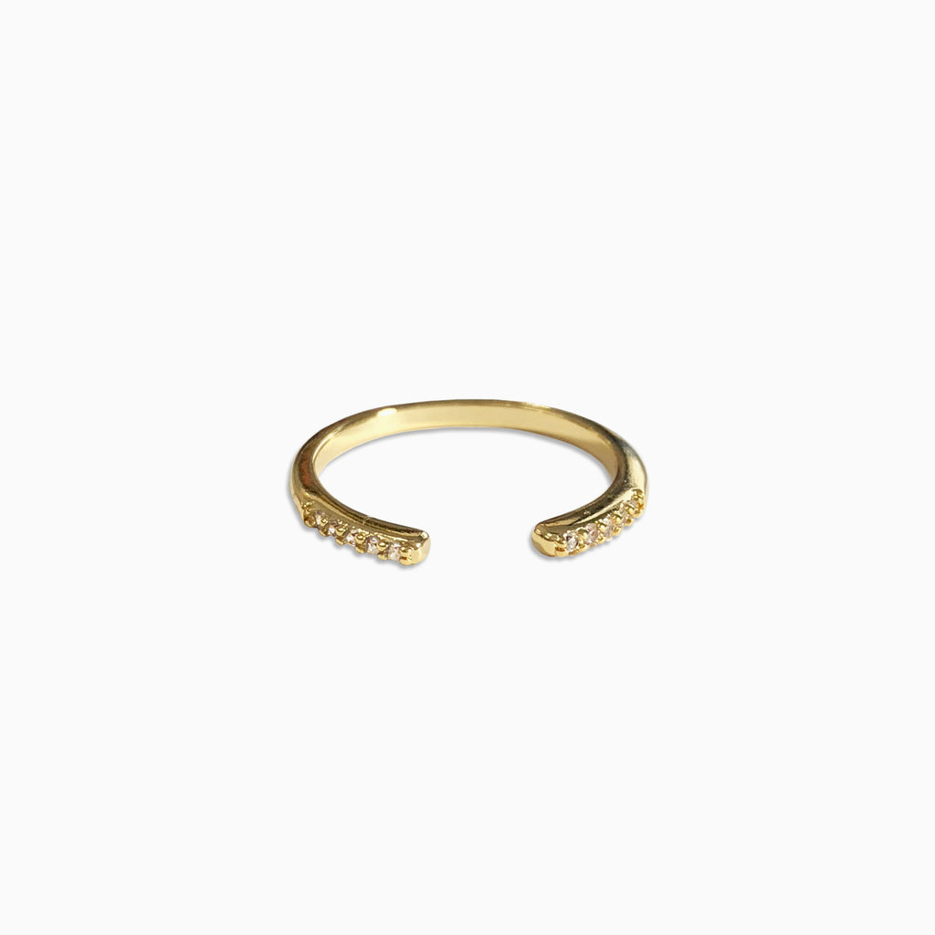pave open ring band