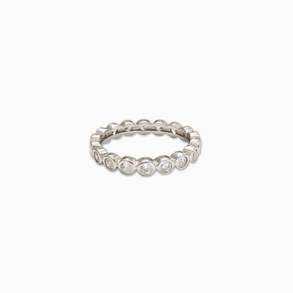 pave sterling silver ring