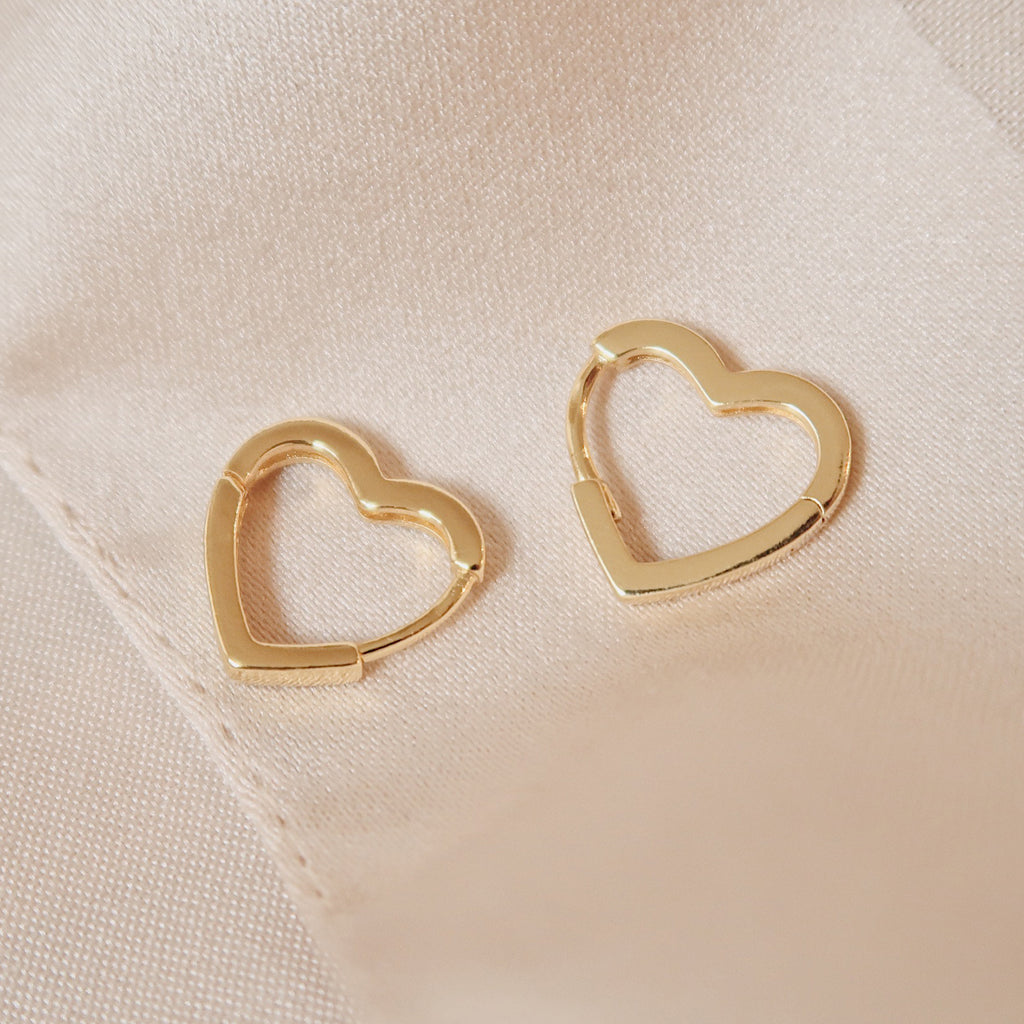 small heart hoops