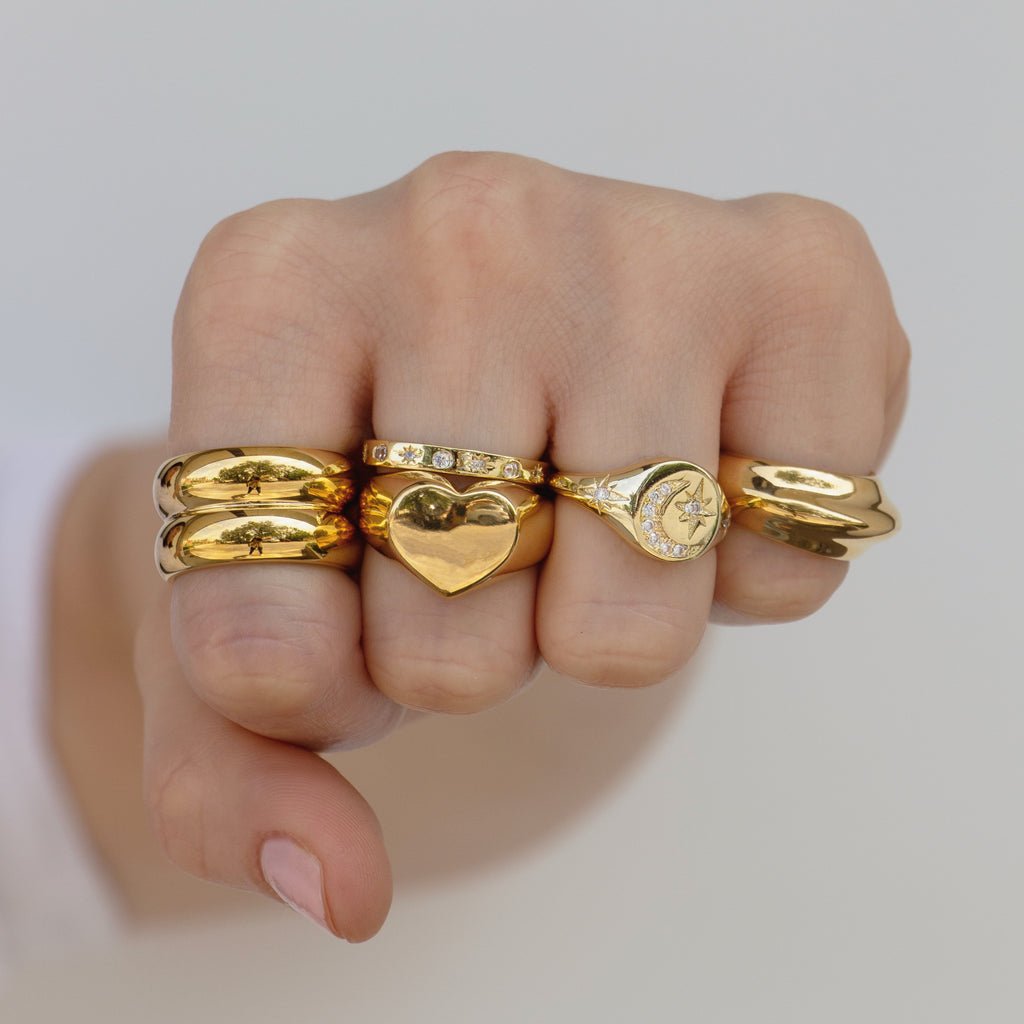 Gold Ring Band | Double Trouble