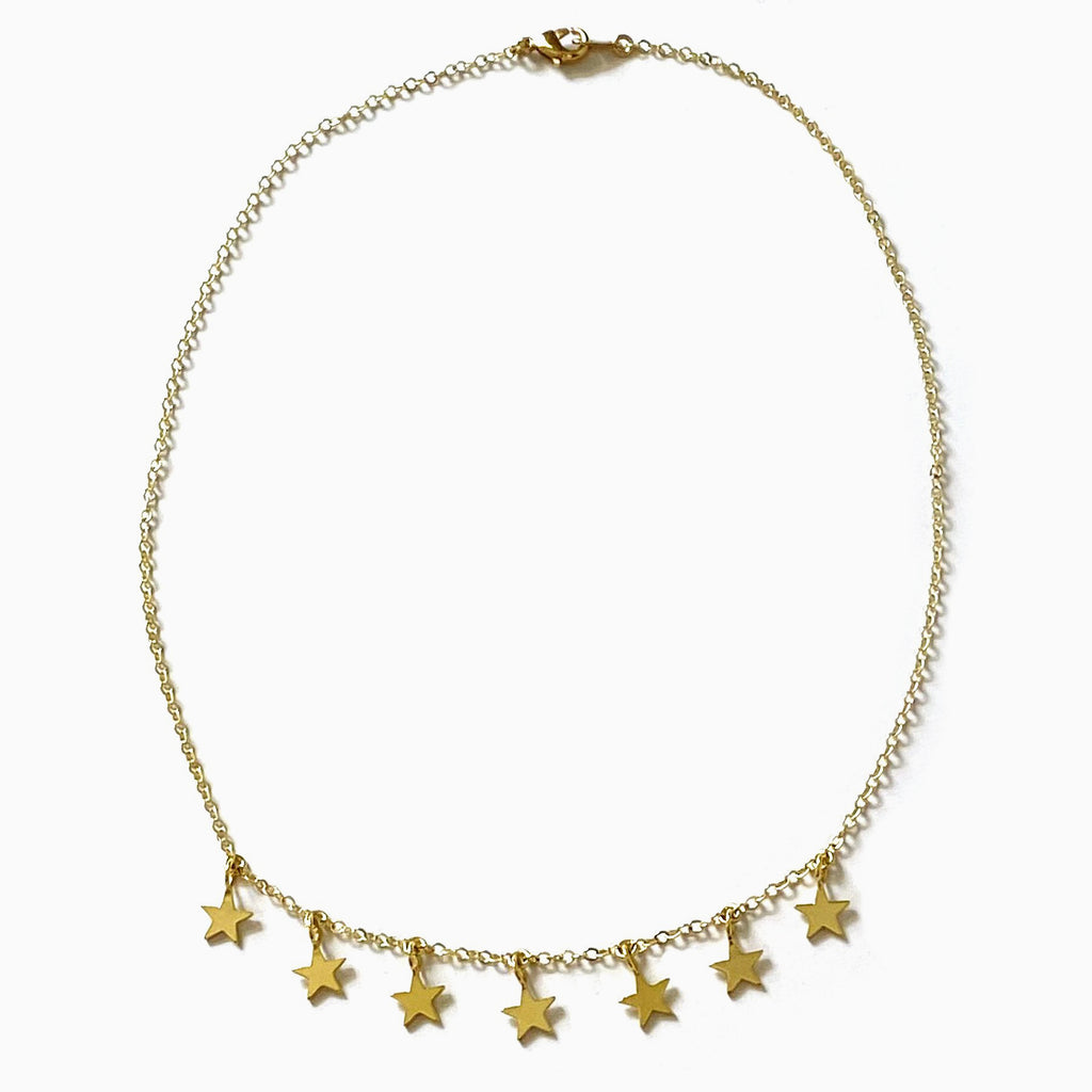Star Choker Necklace | Gold