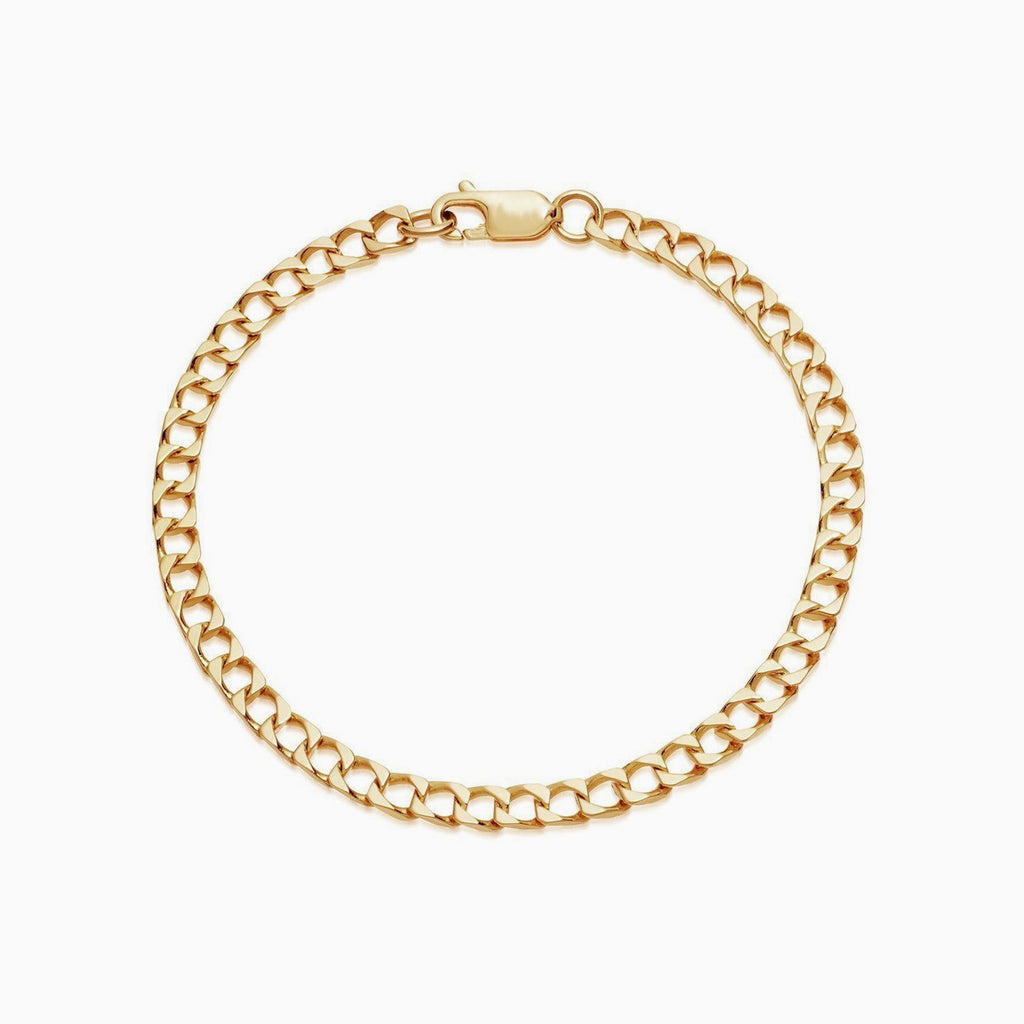 thick gold chain ankle bracelet