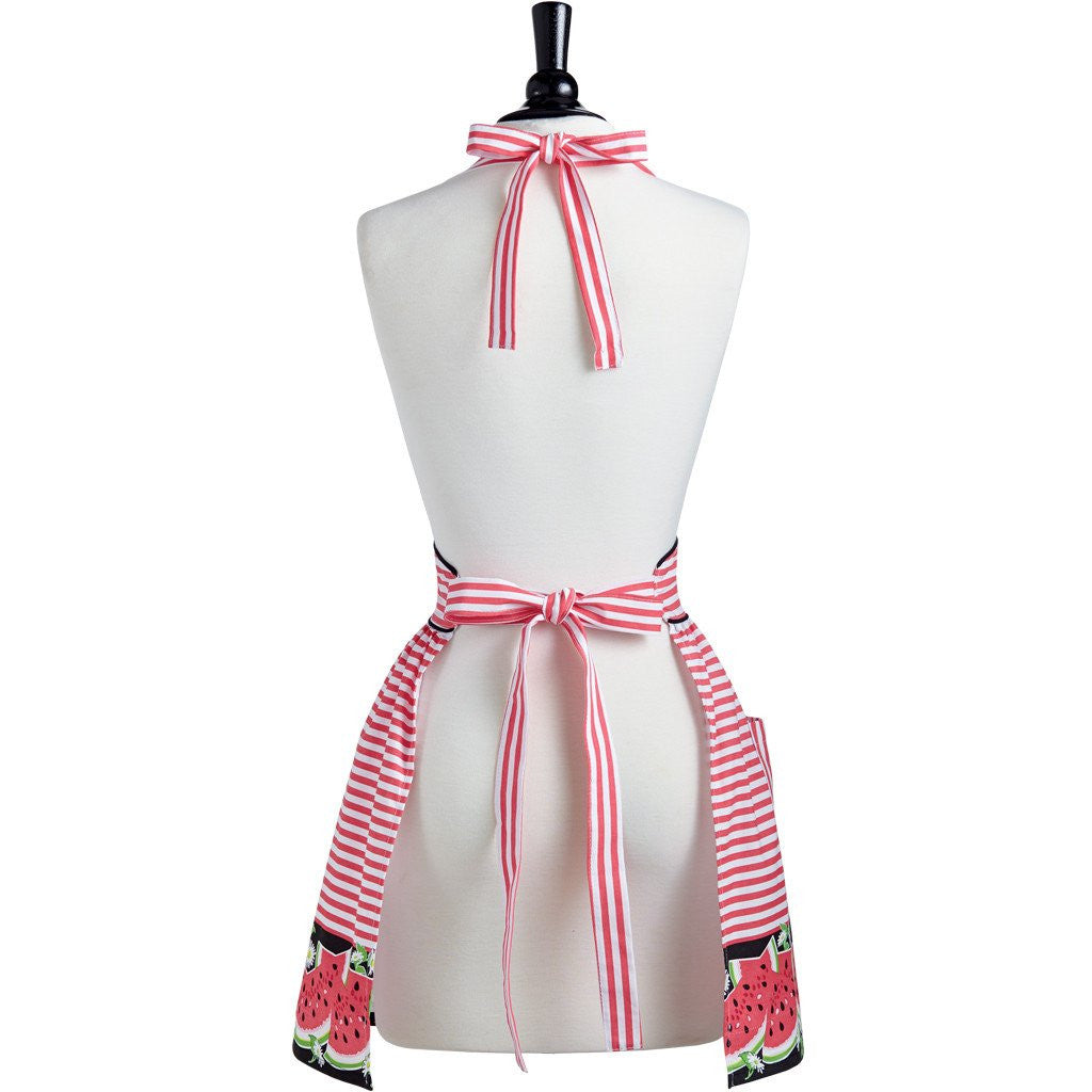 Watermelon Stripe Viola Apron