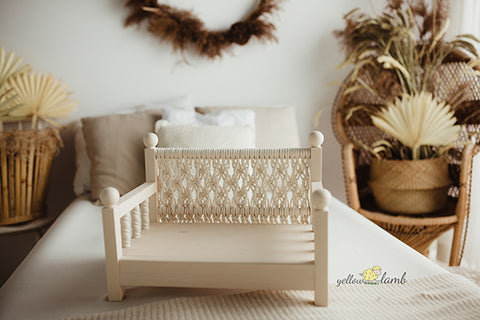 baby bed for photographers boho wooden