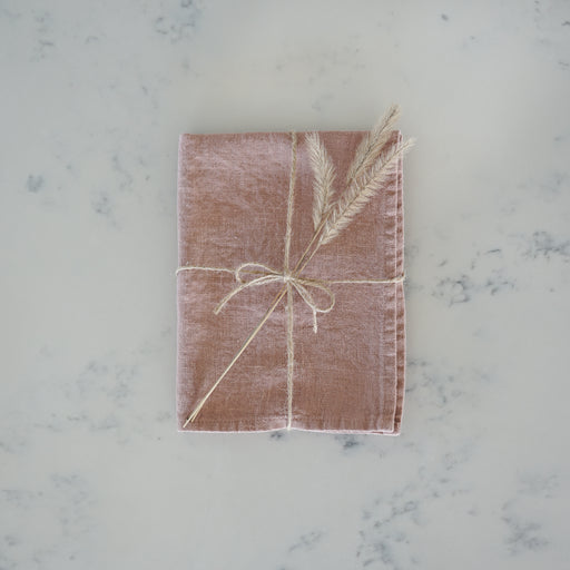 Linen Tea Towel - Blush