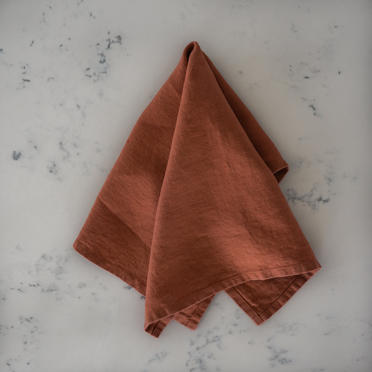 Linen Tea Towel - Baked Clay