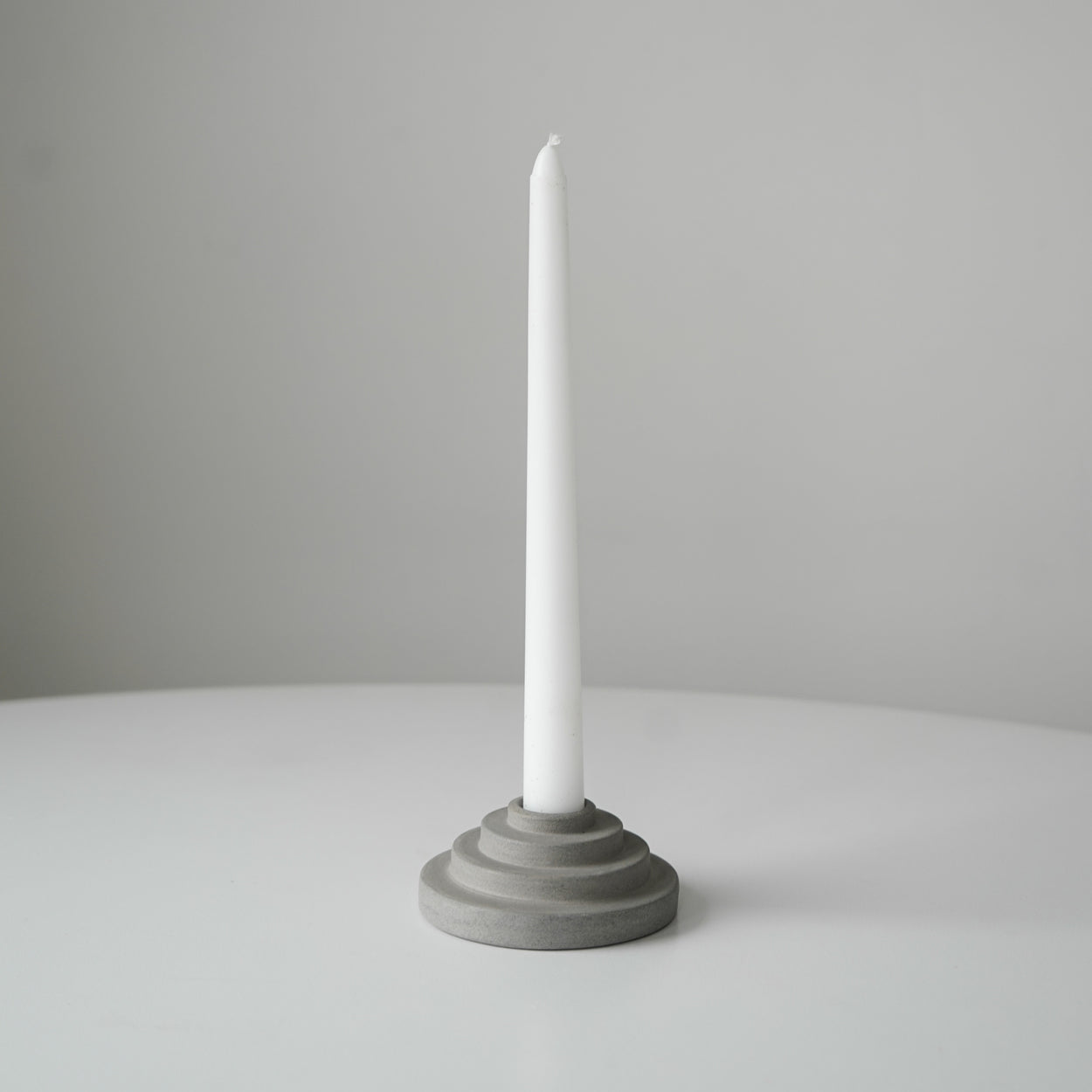 Candle Holder - Aztec Grey