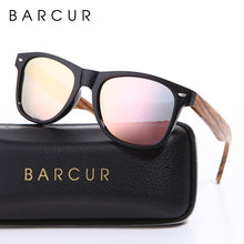 Load image into Gallery viewer, BARCUR Vintage Wooden Style Polarized Men's Sunglasses with Spring Hinge