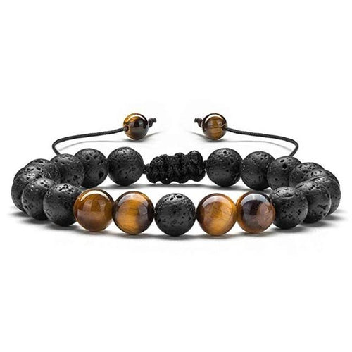 HIYONG - Tiger Stone Beads Bracelet for Men