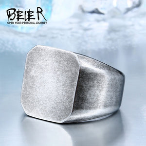 Beier Stainless Steel Geometric Ring