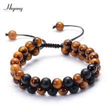Load image into Gallery viewer, HIYONG - Tiger Stone Beads Bracelet for Men