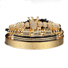 Load image into Gallery viewer, ATTYIRENA - Luxury Roman Royal Crown Charm Adjustable Bracelet