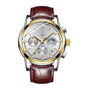 Luxury Stainless Steel Chronograph Wrist Watch for Men