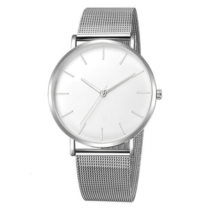 Pluoyo - Ultra Thin Stainless Steel Mesh Luxury Quartz Watch for Men