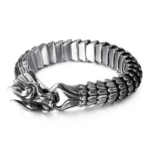 Load image into Gallery viewer, Fongten - Dragon Viking Stainless Steel Biker Link Chain Bracelet for Men