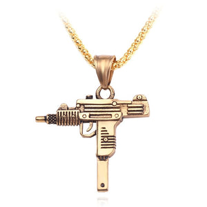 Feimeng Gothic Gun Necklace