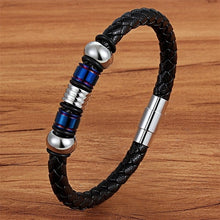 Load image into Gallery viewer, TYO - Magnetic Leather Geometric Bracelet for Men