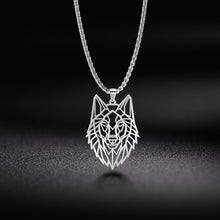 Load image into Gallery viewer, Yiwu Wolf Geometric Cut Out Necklace