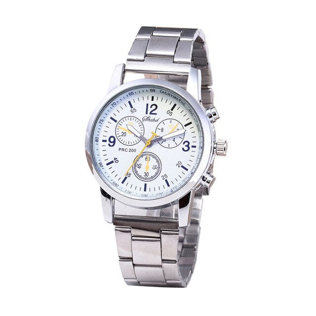Lecopike - Fashion Stainless Steel Band Analog Quartz Wrist Watch for Men