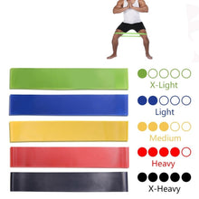 Load image into Gallery viewer, 5 Colours Yoga Pull Rope Elastic Rubber Bands for Indoor / Outdoor