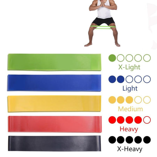5 Colours Yoga Pull Rope Elastic Rubber Bands for Indoor / Outdoor