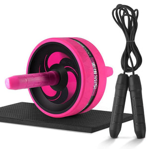 Ab Roller & Jump Rope No Noise Abdominal Wheel