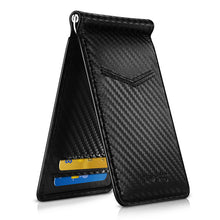 Load image into Gallery viewer, Black Carbon Fiber-Look Money Clip