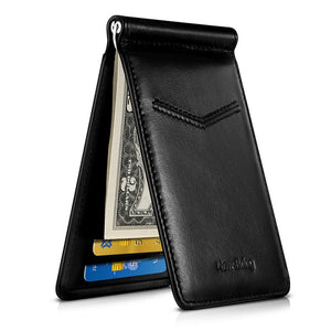 Black Carbon Fiber-Look Money Clip