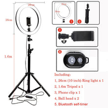 Load image into Gallery viewer, LED Studio Ring Light with stand for Tik Tok