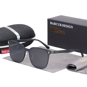 BARCUR Polarized Rimless Men's Sunglasses