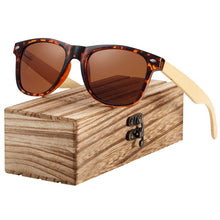 Load image into Gallery viewer, BARCUR Bamboo Polarized Spring Hinge Men's Sunglasses