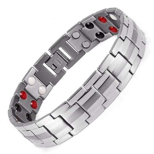 Rainso - Healing FIR Magnetic Titanium Bio Energy Bracelet for Men