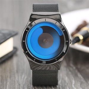 YISUYA - Unique Gradual Colour Change Wrist Watch for Men Turntable Watch Non-analog
