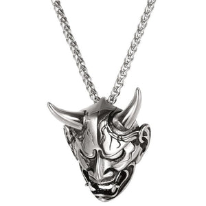 U7 Necklace Gothic Horn Evil Devil Demon Stainless Steel Pendant