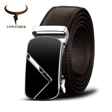 Load image into Gallery viewer, Cowather Men's Genuine Leather Belt With Automatic Metal Buckle