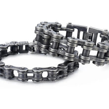 Load image into Gallery viewer, Davieslee - Stainless Steel Motorcycle Chain Patterned Punk Bracelet for Men