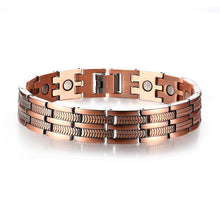 Load image into Gallery viewer, Pure Copper Therapy Link Hologram Bracelet with health benefits