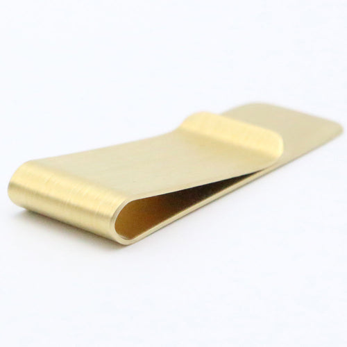 Stainless Steel Gold Color Slim Money Clip