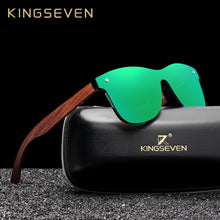Load image into Gallery viewer, KINGSEVEN Natural Wooden Polarized Men's Sunglasses