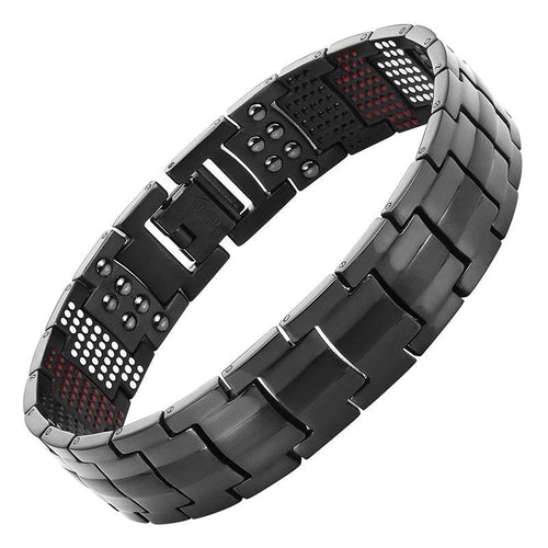 Escalus - IPG Plating Pure Titanium Magnetic Chain & Link Bracelet For Men