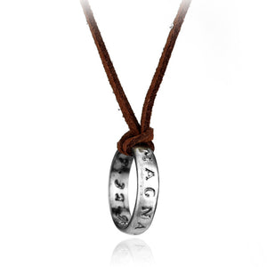 Mysterious Engraved Rongji Ring Necklace