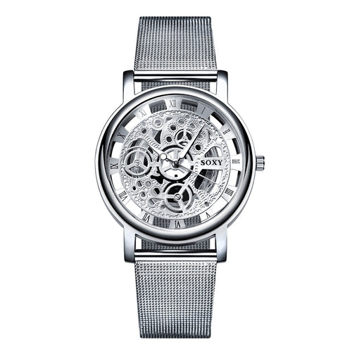 SOXY - Simple Skeleton Mesh Wrist Watch