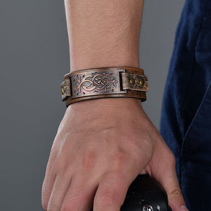 Abay - Fantasy Inspired Leather Wrap Bracelet Band