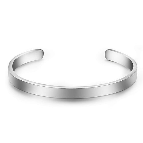 ZORCVENS - Stainless Steel Cuff Bangle Bracelet