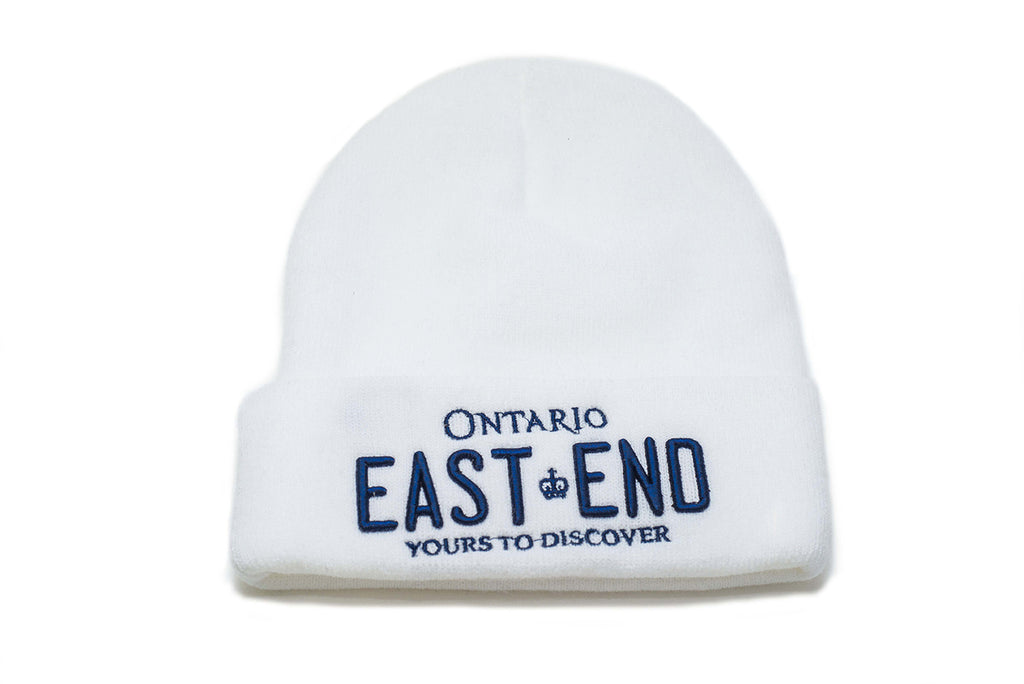 REGISTRATION: EAST END Beanie (White/Blue)