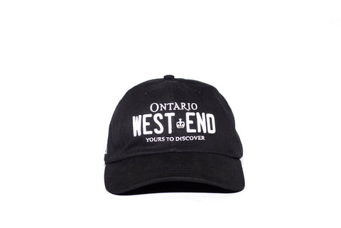 REGISTRATION: West End Strapback Dad Hat [Black/White]
