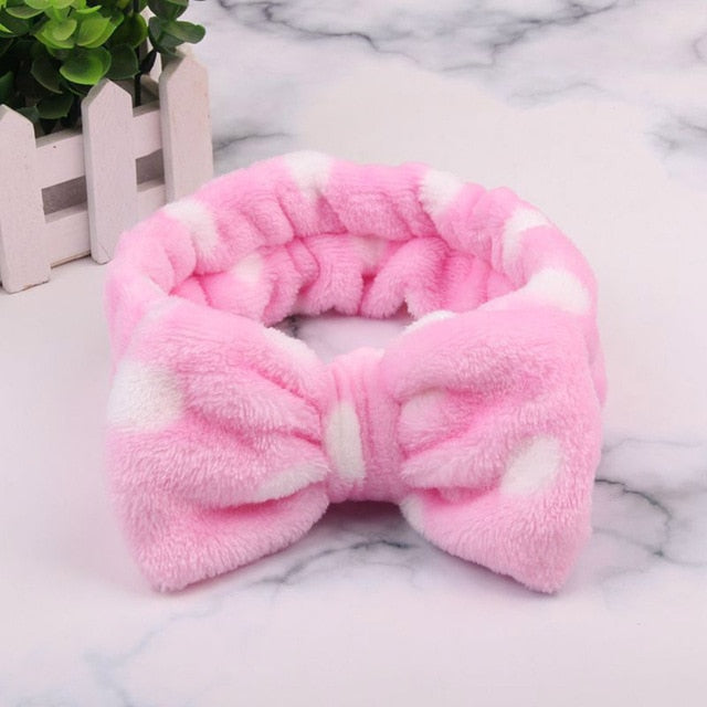 2020 New OMG  Fleece Bow Hairbands For Women and Girls