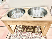Load image into Gallery viewer, Raised Dog Bowl Stand