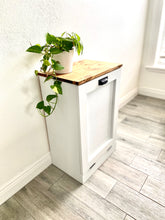 Load image into Gallery viewer, Single Trash Bin Cabinet, Tilt Out Doors, Wood Trash Recycle Bin, Laundry Hamper