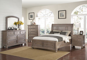 ALLEGRA PEWTER CAL KING BED
